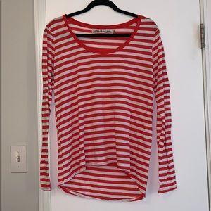 Long sleeve striped OS shirt